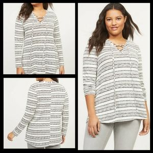 NWT 14/16 Lane Bryant Softest Touch Swing Top lace